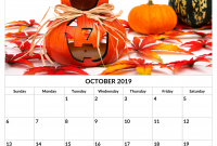 Cool Calendar Printable By Month 2020 October Halloween