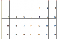 Printable A4 October 2020 Calendar Template Monthly
